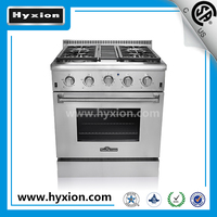 30 inch 4 burner gas cooker with covection oven