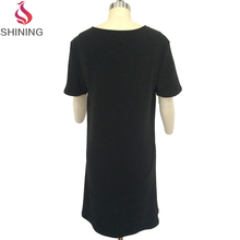 Eco-friendly new fashion ladies simple plain t-shirt dresses