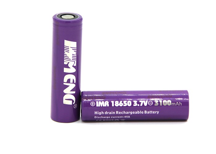 High Quality purple IMR18650 3100mah battery electric cigarette battery