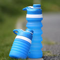 Portable 550ML sport collapsible water bottle