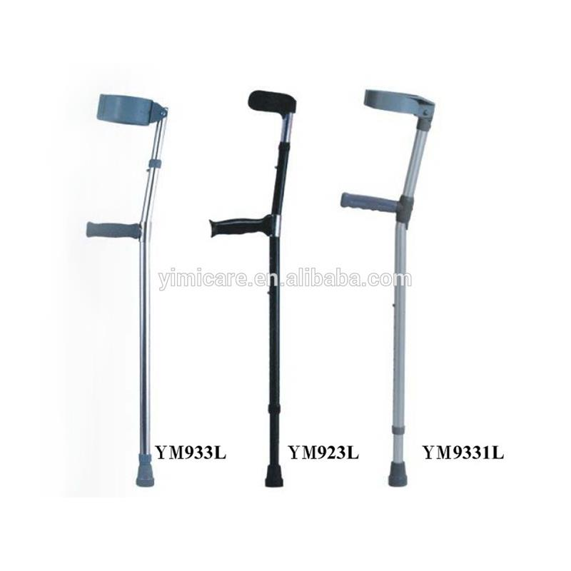 best silver-white aluminum alloy crutch for lock the walking stick / cane and crutch