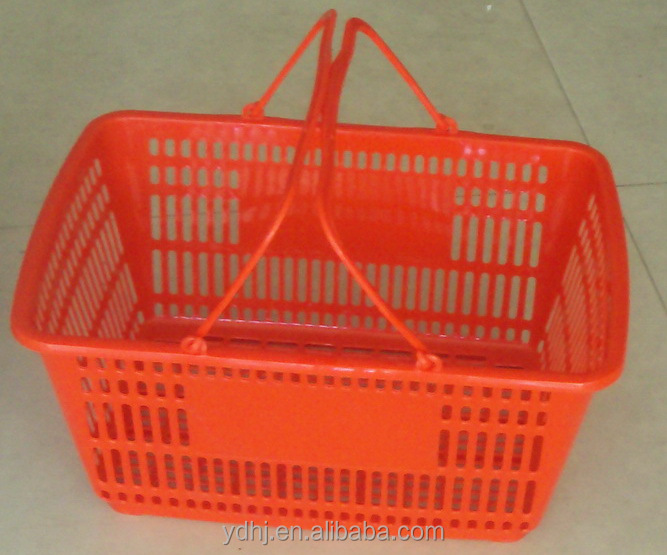 New Mould Supermarket Shopping Baskets with Double Handles