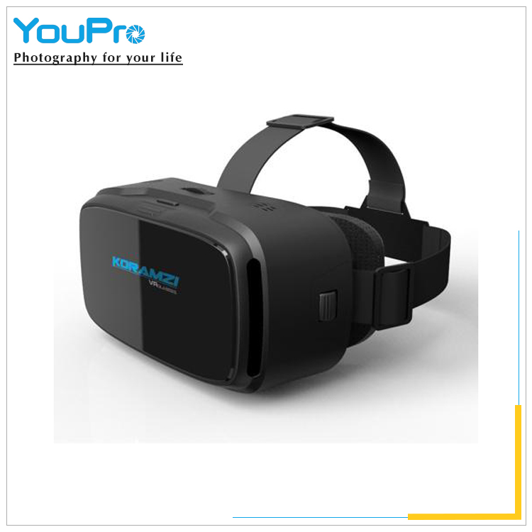 2017 Factory sales high quality promotion Watching 3D Movie black 3D glasses vr box