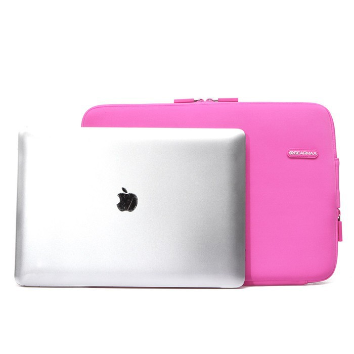 Free Shipping High Quality Fashionable Shockproof Pink Neoprene Laptop Computer Accessories Bag for Macbook Air 13.3'' Women