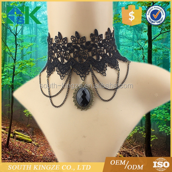 New Wholesale Black Lace Necklace Collar Creative Fashion Fake Collar