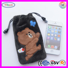 A398 Shenzhen Cartoon Phone Case Bag Drawstring Plush Wholesale Cellphone Case