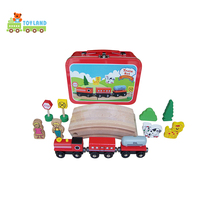 China Factory Wholesale Table Wooden Toy Train Set For Kids