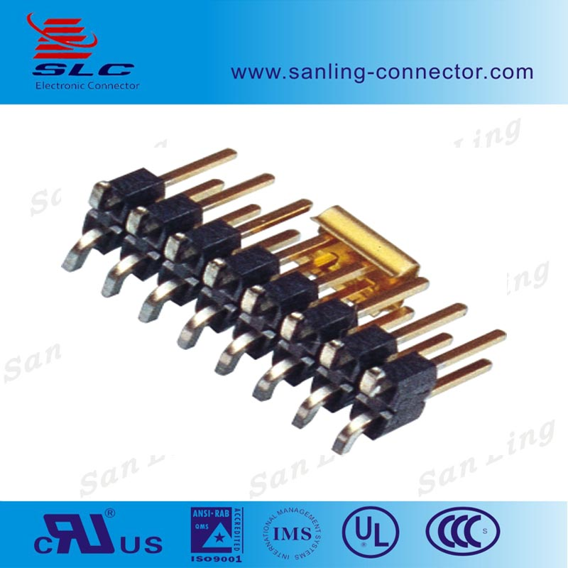 Pitch 2.54mm SMT single 2 Pin Header Connector For PCB Board
