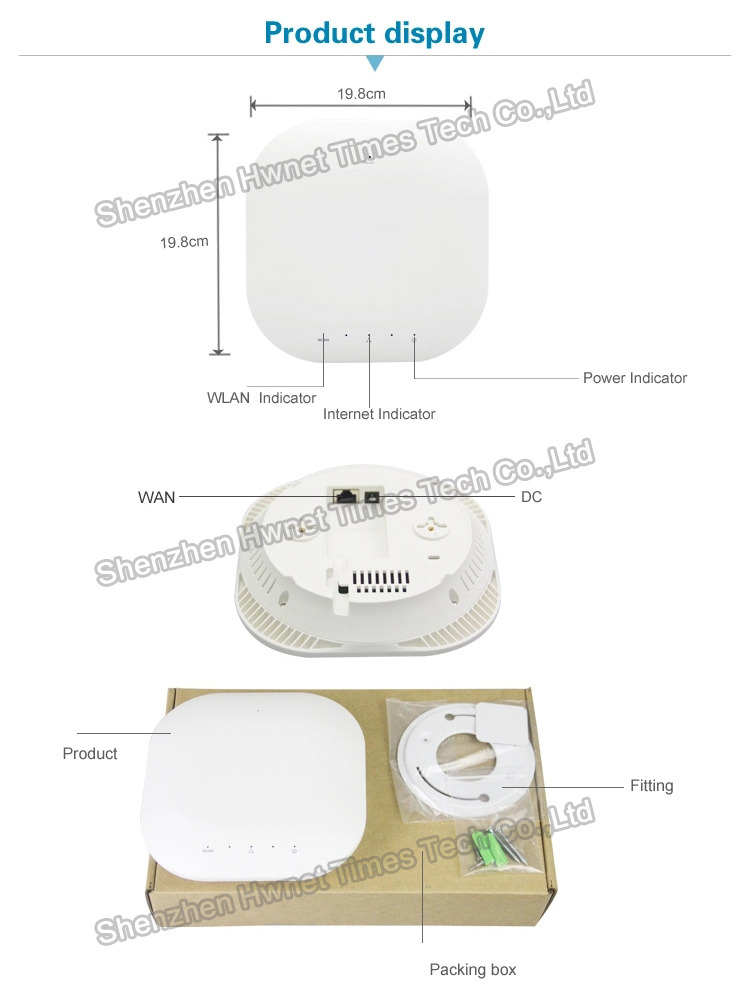 Indoor dual band wireless 750m ceiling mount access point