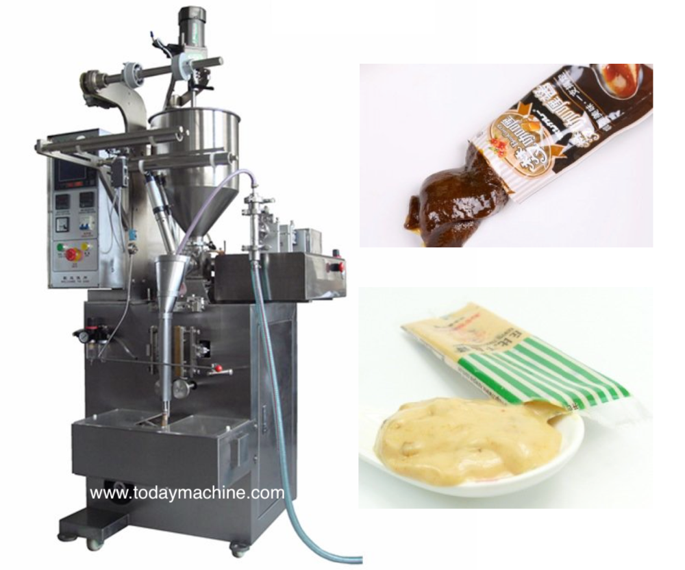 Automatic Vertical Form Fill Seal Machine for Sauce / Ketchup / Paste