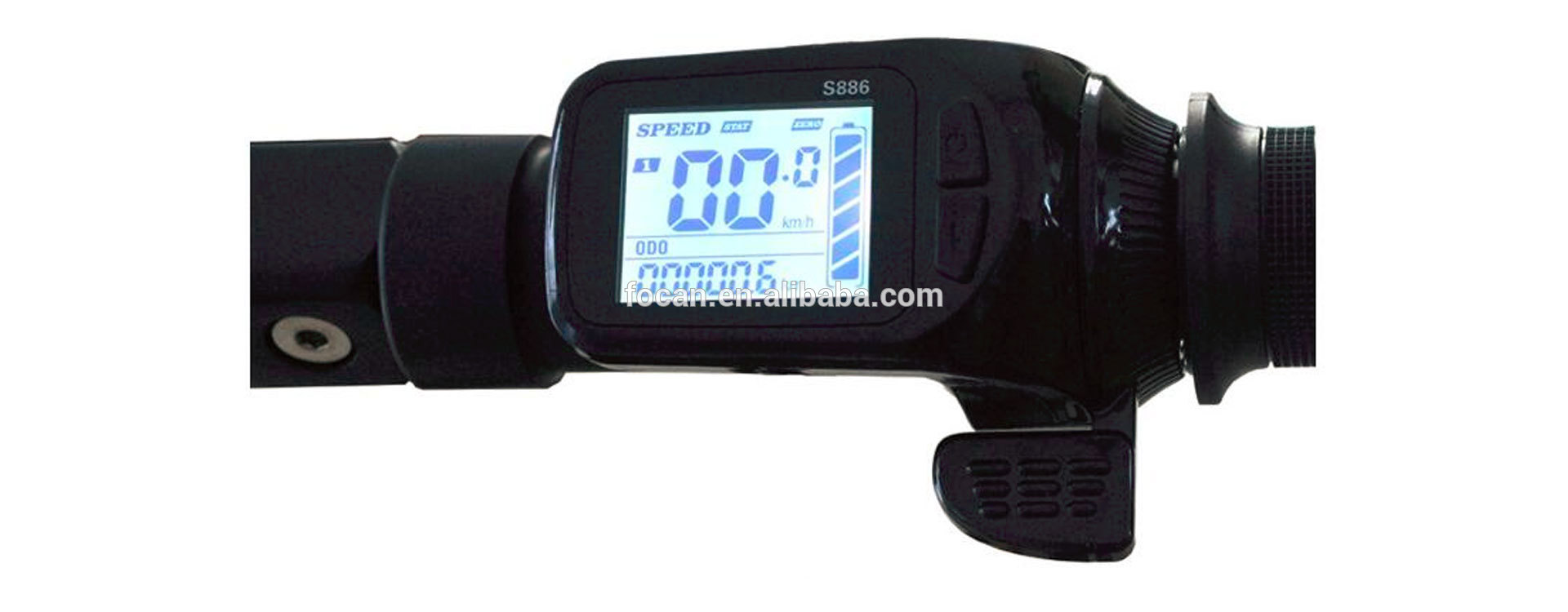 24v 36v 48v Electric Bike Assistant Thumb Throttle Type LCD Display S886