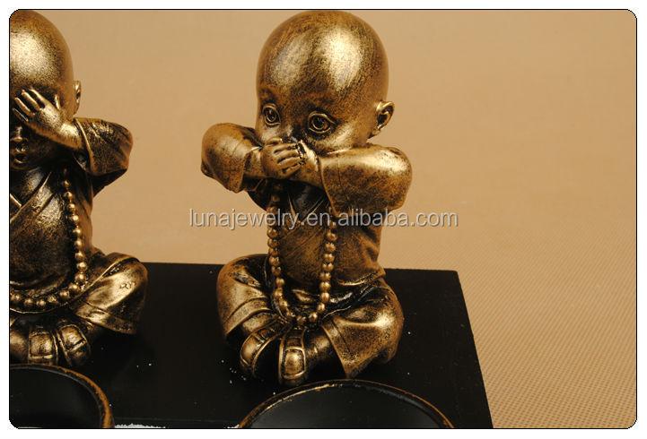 Asian Japanese Baby Buddha Statue Sand Zen Garden Monk