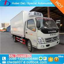 Manufacturer Price 2 ton freezer refrigerated cold room van truck Foton light refrigerator truck with Thermo King Refrigerator