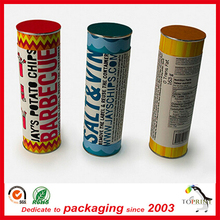 Fast food packaging paper tube aluminum paper tubes packaging chips cardboard cans for fast food