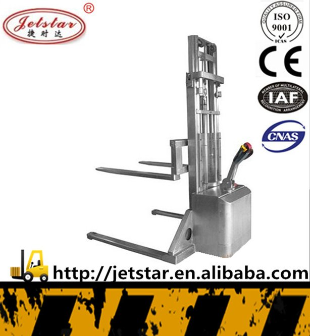 electric stainless steel pallet minitype forklift