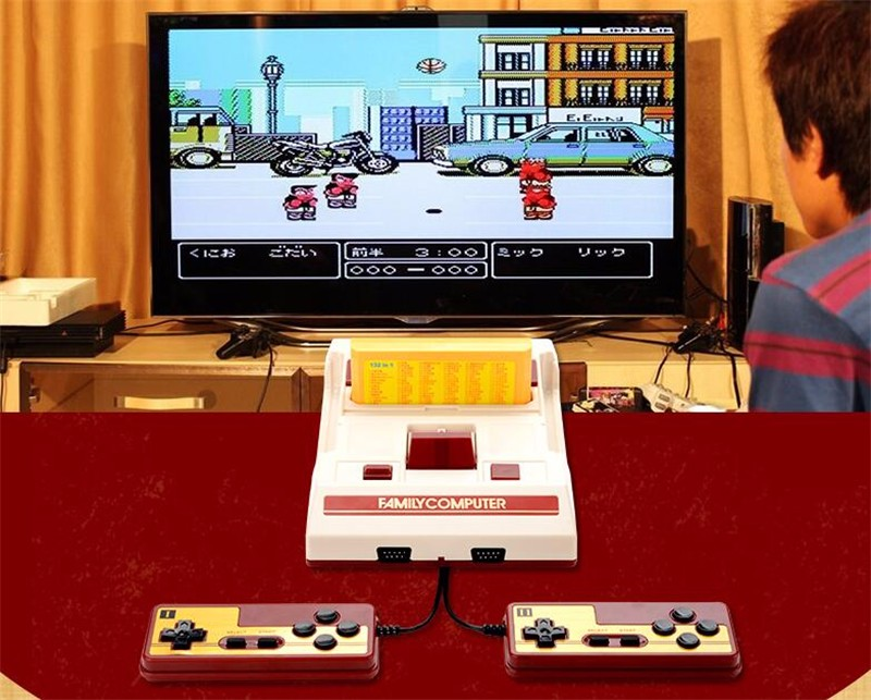 Cool FC Compact video game console Family Computer for fc nes sega games include 232 games electronic game machine for kids