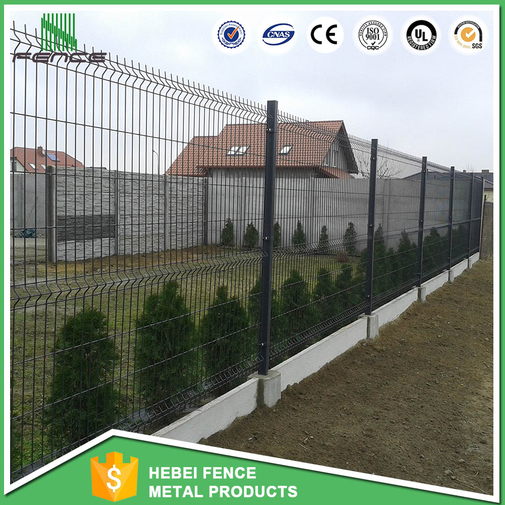 PVC Coated Metal Fence Panels /Green color Powder Coated Wire Mesh Fence