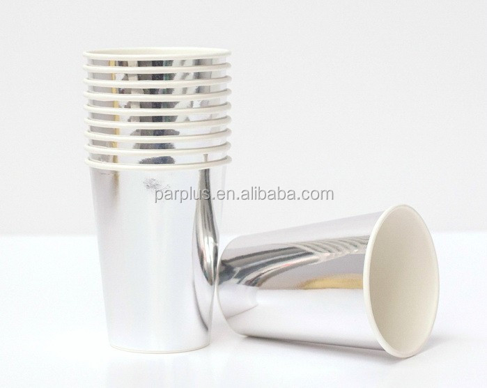 Metallic Silver Paper Cups