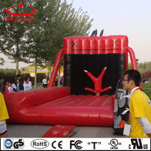 Inflatable game facility, inflatable sticky wall