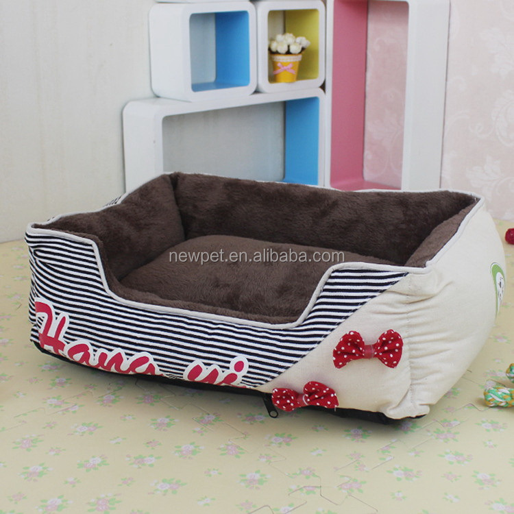 Eco-friendly best selling princess butterfly knots wood cat house bed