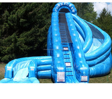2018 happy hop inflatable water slide,bounce round inflatable water slide for sale