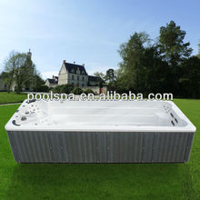 Luxury durable USA acrylic rectangular outdoor freestanding 2 seat swim pool spa hot tub
