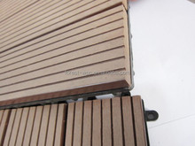 UV resistant eco friend deck tiles solar decking tiles interlocking composite wood deck tiles