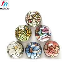 Hot sale customized tourist 3d souvenir dome crystal glass fridge magnets