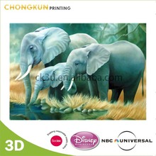 Wholesales 3D Lenticular Art Pictures of Elephant