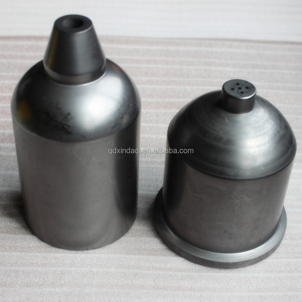 Dia100*165 high purity graphite crucible