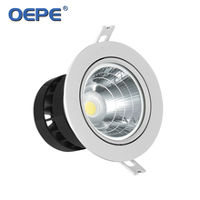 Focus narrow beam angle cob 10w with small 15 degree led ceiling spotlight