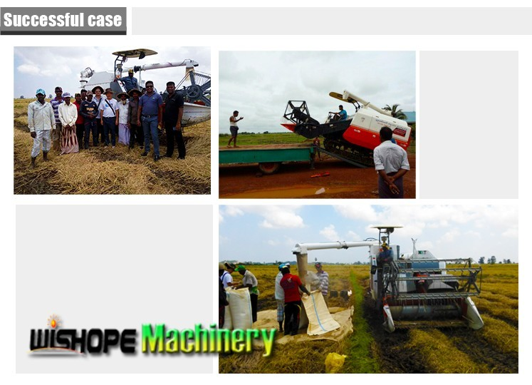 Agricultural Equipment Paddy Rice Combine Harvester For Sale