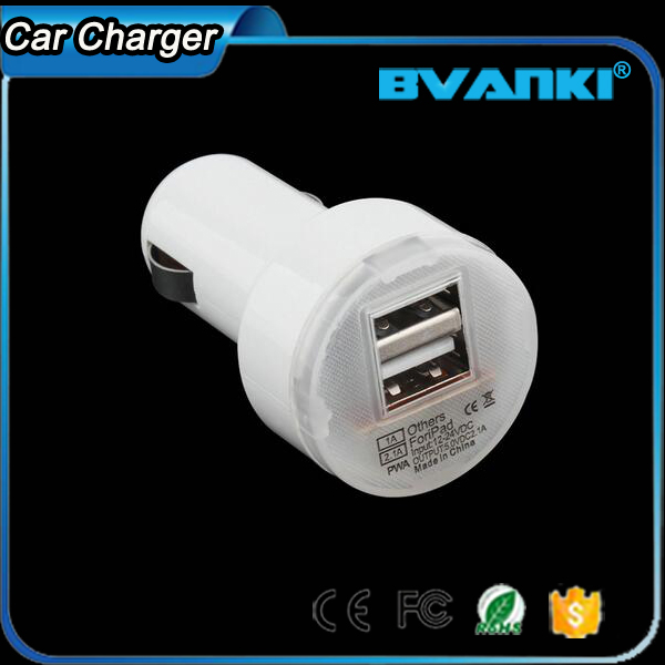 Desk Phone Accessories Universal Phone USB Adapter Charger Durable Dual Car Charger With 2 USB Ports