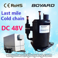 r134a small 24v 48v mini cooler compressor for cold chain refrigerated van