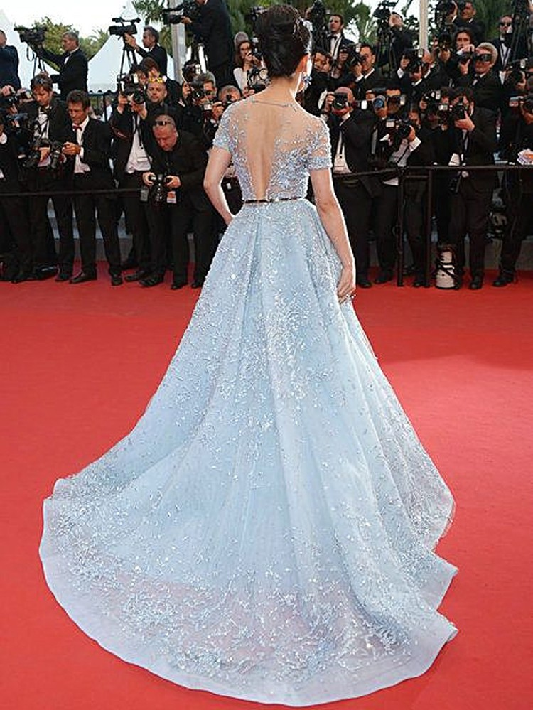 Zuhair Murad blue Mermaid Long Dresses Evening Dresses With Stone