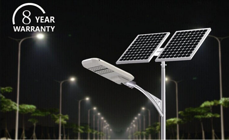 DLC/UL Appoved Parking Lot Light 5 Years Warranty Solar Panel Led Street Light
