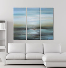 Abstract oil painting for living room
