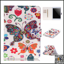 Popular Painted Pattern Design Flip PU Leather Card Holder Stand Case Cover For Apple iPad mini1/2/3, leather case