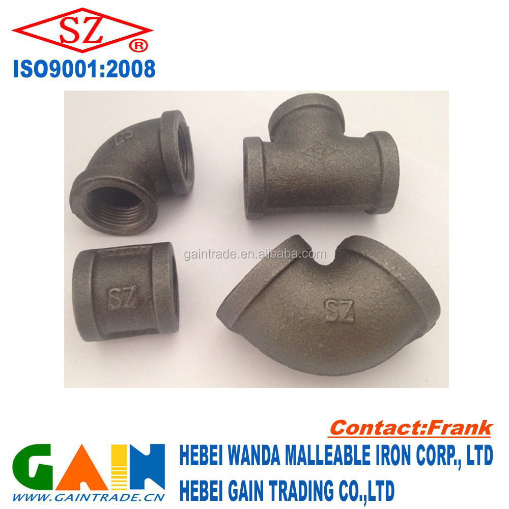 black malleable iron fittings for furniture