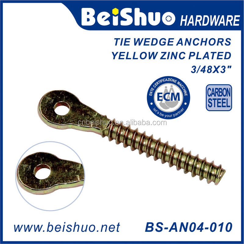 Yellow Zinc Plated Tie Wire Fish Eye Type wood Screws