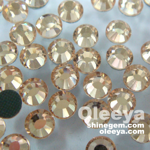 Lead Free Newest design SS20 Champagne Color Hot Fix Stone.Top Quality Chinese HotFix Rhinestones with 55 Colors
