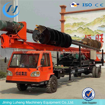 Highway foundation used hydraulic auger drilling rig / pile driving machine