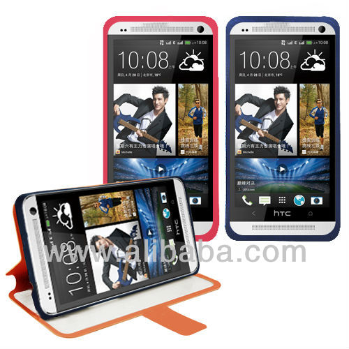 PU Leather Mobile Phone Case with Full Open Window, for HTC One Max