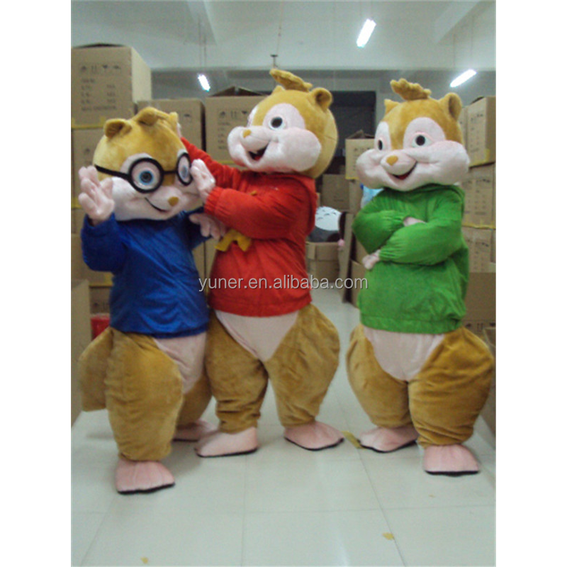 alvin and the chipmunks costumes cute mascot costume