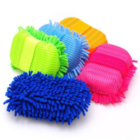 Car Wash Glove Microfiber Chenille car cleaning cloth, chenille car cleaning gloves multi function microfiber cleaning gloves