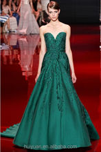 Chiffon green deep v neck matron of honor dresses