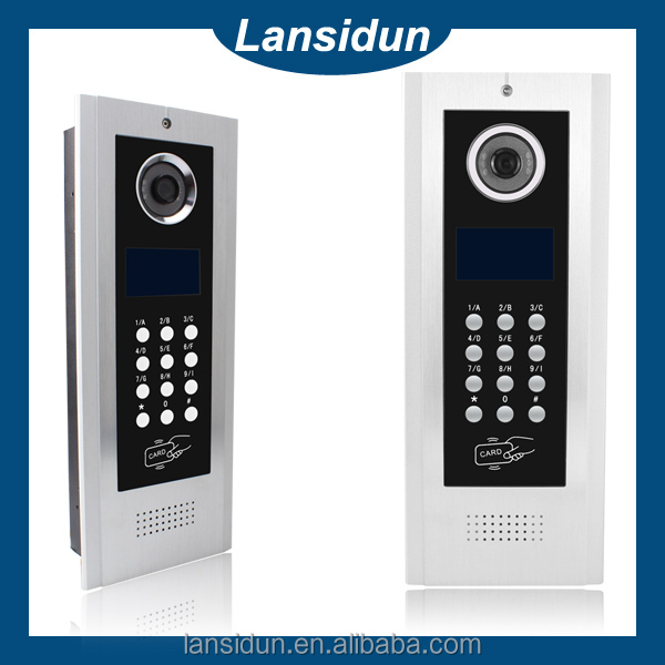 cat5 / 4 wire video intercom system for large building apartment