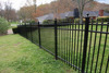 Hot dipped black aluminum fences cheap fence factory direct sale
