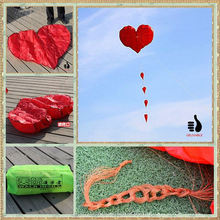 Small easy flying single line heart kite for beginner