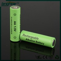 BRIGHTER 1.5v aa rechargeable alkaline battery popular 2015